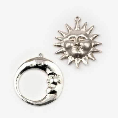 Sun & Moon - Earrings: click to enlarge