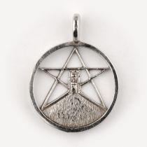 Glastonbury Tor & Pentagram Circle - Pendant